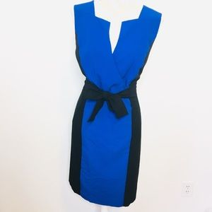 Calvin Klein Sheath Career Dress Sz. 14 Black Blue
